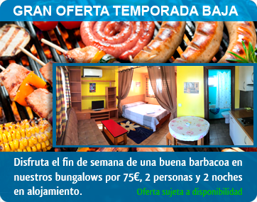 oferta barbacoa bungalows